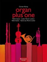 Organ plus One. Réforme Carsten Klomp Partition Orgue - laflutedepan
