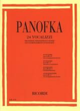 Heinrich Panofka - 24 vocalises op. 81 Soprano, mezzo-soprano and tenor - Sheet Music - di-arezzo.com