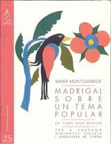 Xavier Montsalvatge - Madrigal sobre un tema popular - Sheet Music - di-arezzo.co.uk