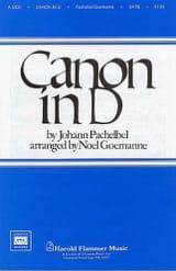 Canon Johann Pachelbel Partition Chœur - laflutedepan.com