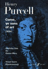 Come Ye Sons of Art Henry Purcell Partition Chœur - laflutedepan.com