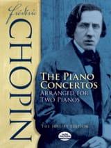 Frédéric Chopin - Concertos pour piano et orchestre - Partition - di-arezzo.fr