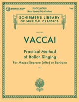 Nicola Vaccai - Practical Method of Italian Singing. Average voice - Sheet Music - di-arezzo.co.uk