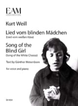 Kurt Weill - Lied vom blinden Mädchen - Partition - di-arezzo.fr