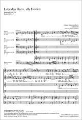 Lobet den Herrn, alle Heiden BWV 230 laflutedepan