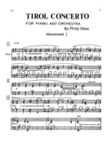 Philipp Glass - Tirol concerto - Soloist part - Sheet Music - di-arezzo.co.uk