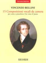 15 Composizioni Vocali da Camera - Voix Haute BELLINI laflutedepan