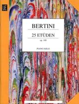 Etudes Opus 100 Henri Bertini Partition Piano - laflutedepan