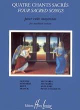4 Chants Sacrés. Voix Moyenne Partition Mélodies - laflutedepan.com