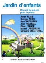 Jardin D'enfants Partition Piano - laflutedepan.com