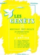 Les Genêts Jean Antiga Partition Piano - laflutedepan.com