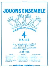 Jouons Ensemble Volume 1. 4 Mains Antiga Partition laflutedepan.com