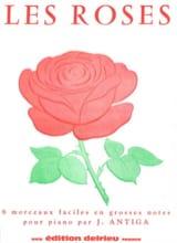 Les Roses Jean Antiga Partition Piano - laflutedepan.com