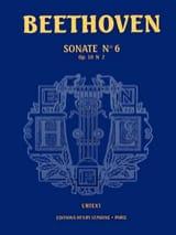 Sonate N° 6 Opus 10-2. Urtext BEETHOVEN Partition laflutedepan.com
