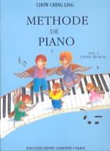 Méthode de Piano Volume 1 Ching Ling Chow Partition laflutedepan.com