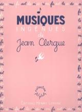 Musiques Ingénues Clergue Partition Piano - laflutedepan.com
