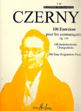 CZERNY - 100 Exercises For Beginners Opus 139 - Sheet Music - di-arezzo.co.uk