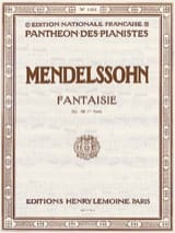 MENDELSSOHN - Fantasy Opus 28. Part 1 - Sheet Music - di-arezzo.co.uk