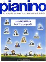 Marche Nuptiale. Pianino 62 Félix MENDELSSOHN laflutedepan.com