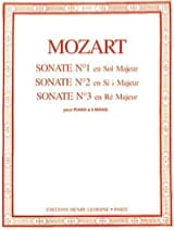 MOZART - Sonatas A 4 Hands N ° 1 A 3 - Sheet Music - di-arezzo.co.uk