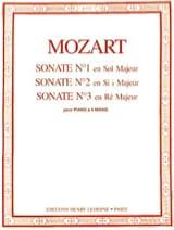 MOZART - Sonate A 4 Mani N ° 1 A 3 - Partitura - di-arezzo.it