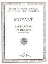 La Tartine de Beurre MOZART Partition Piano - laflutedepan.com