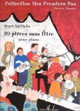 20 Pièces Sans Titre Henri Nafilyan Partition Piano - laflutedepan.com