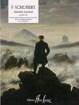 Moment Musical Opus 94-3 SCHUBERT Partition Piano - laflutedepan.com