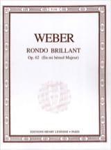 Carl Maria von Weber - Rondo Brillant Op.62 En Mi Bémol Majeur - Partition - di-arezzo.fr