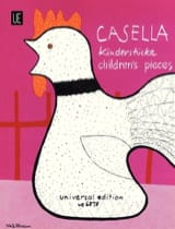 11 Pièces Pour Enfants Alfredo Casella Partition laflutedepan.com