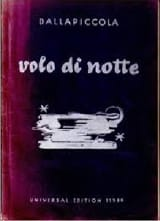 Luigi Dallapiccola - Volo Di Notte - Partition - di-arezzo.fr
