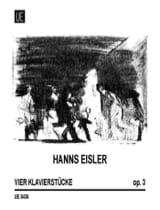 4 Klavierstücke Op. 3 Hanns Eisler Partition Piano - laflutedepan.com
