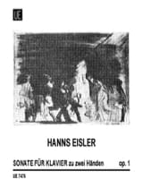 Hanns Eisler - Sonate Op. 1 - Partition - di-arezzo.fr