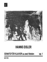 Sonate Op. 1 Hanns Eisler Partition Piano - laflutedepan.com