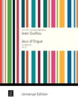 Jean Guillou - Jeux D'orgue Opus 34 - Partition - di-arezzo.fr