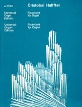 Ricercare für Orgel (1981) - Cristobal Halffter - laflutedepan.com
