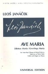 Ave Maria Leos Janacek Partition Chœur - laflutedepan.com