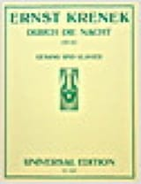 Durch Die Nacht Op. 67 Ernst Krenek Partition laflutedepan.com