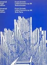 Petit Concerto Op. 88 1939/40 Ernst Krenek Partition laflutedepan.com
