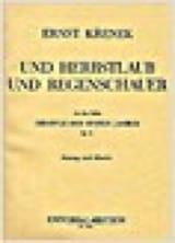 Ernst Krenek - Und Herbstlaub, Und Regenschauer - Partition - di-arezzo.fr
