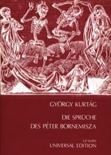 György Kurtag - Die Sprüche des Peter Bornemisza Op. 7 - Partition - di-arezzo.fr