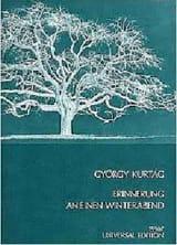György Kurtag - Erinnerung An Einen Winterabend Op. 8 1969 - Partition - di-arezzo.fr