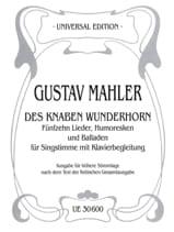 Des Knaben Wunderhorn. Voix Haute MAHLER Partition laflutedepan