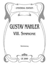 Symphonie n° 8 Gustav Mahler Partition Chœur - laflutedepan.com