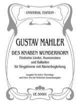Des Knaben Wunderhorn. Voix Grave Gustav Mahler laflutedepan.com