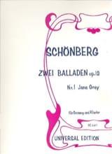 Arnold Schoenberg - 2 Ballades Op. 12-1 - Partition - di-arezzo.fr