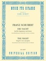 Die Nacht SCHUBERT Partition Guitare - laflutedepan.com