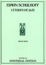 5 Etudes de Jazz Erwin Schulhoff Partition Piano - laflutedepan.com