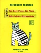 10 leichte Klavierstücke Alexandre Tansman Partition laflutedepan.com
