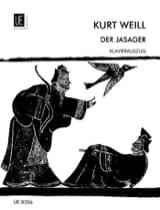 Der Jasager Kurt Weill Partition Opéras - laflutedepan.com